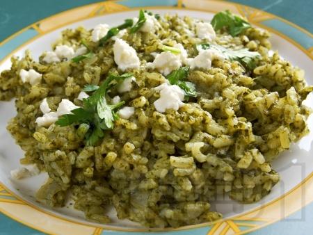 Спанак с ориз на фурна - снимка на рецептата
